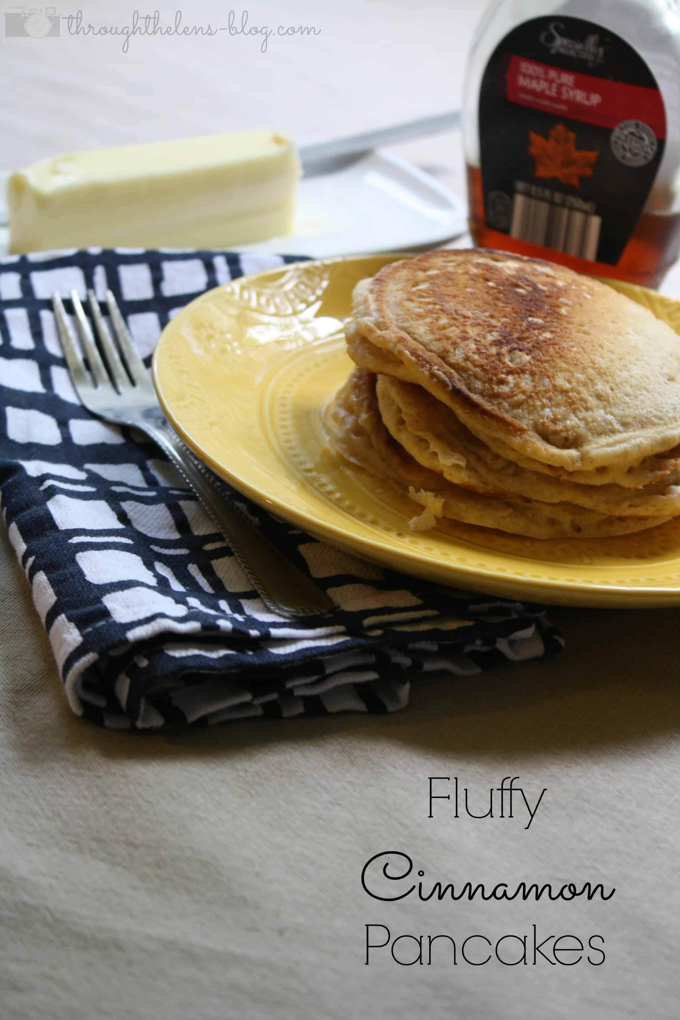 Fluffy Cinnamon Pancakes