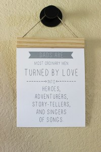 Printable Father's Day Quote and DIY Wood Cleat