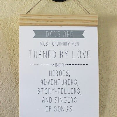 Printable Father's Day Quote With DIY Wood Cleat