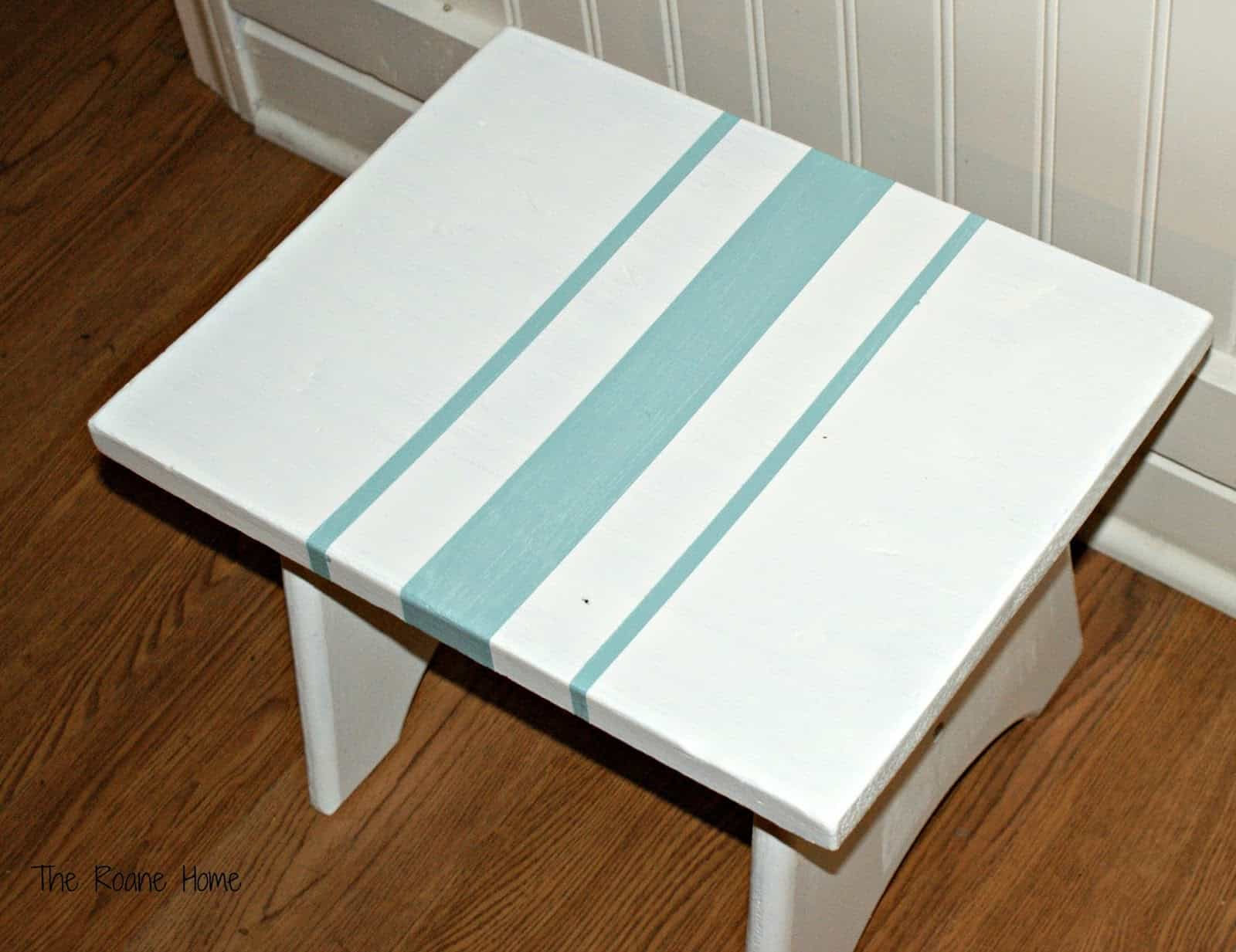 Painted Farmhouse Stool from The Roane Home