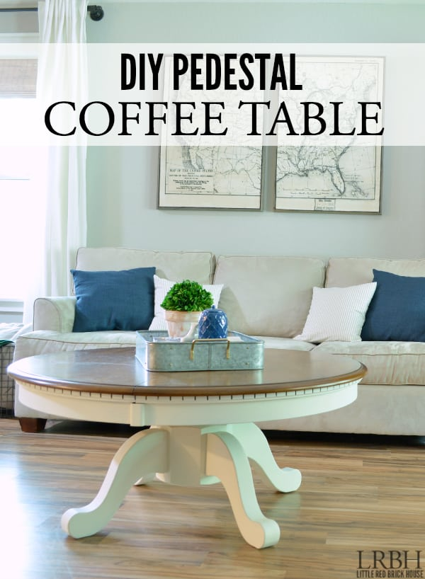 diy pedestal coffee table - domestically speaking