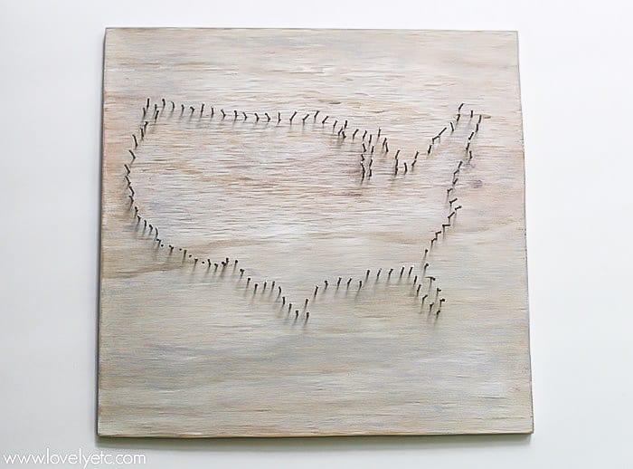 nail outline for string art