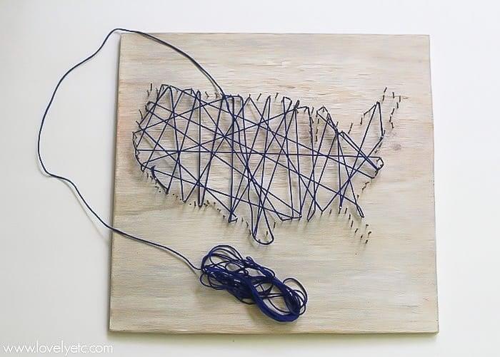 making us string art