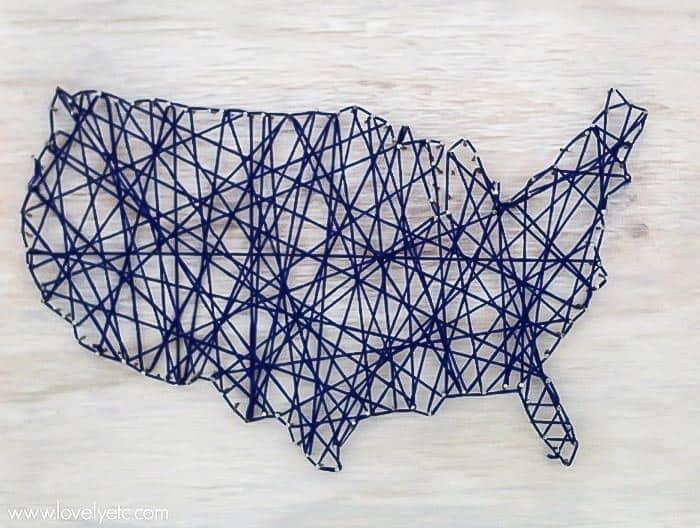 usa string art