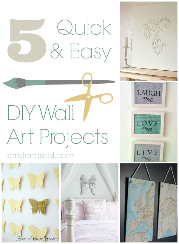 5-Quick-Easy-DIY-Wall-Art-Projects