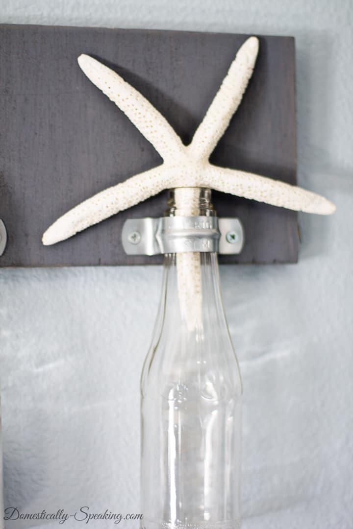 DIY Hanging Bottles with Clamps Decor 2