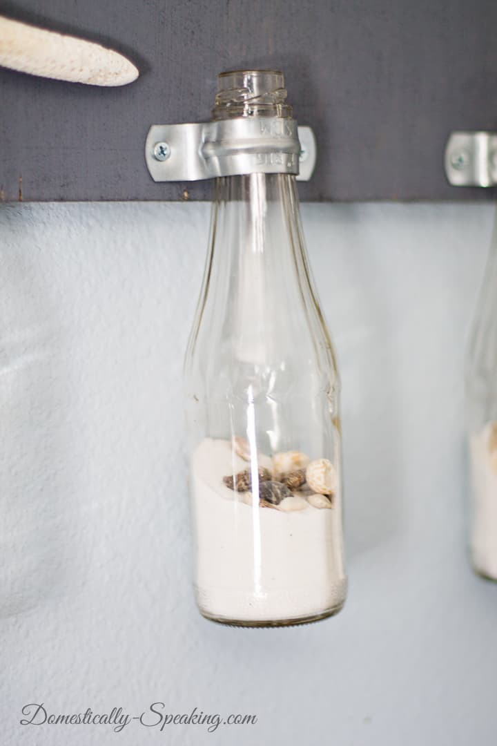 DIY Hanging Bottles with Clamps Decor 5