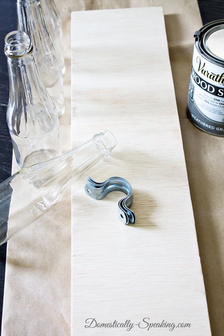 DIY Hanging Bottles with Clamps Decor 7