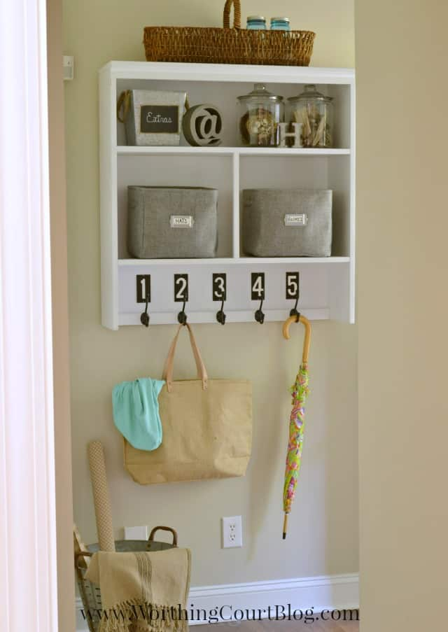DIY Mudroom Dropzone from Worthing Court