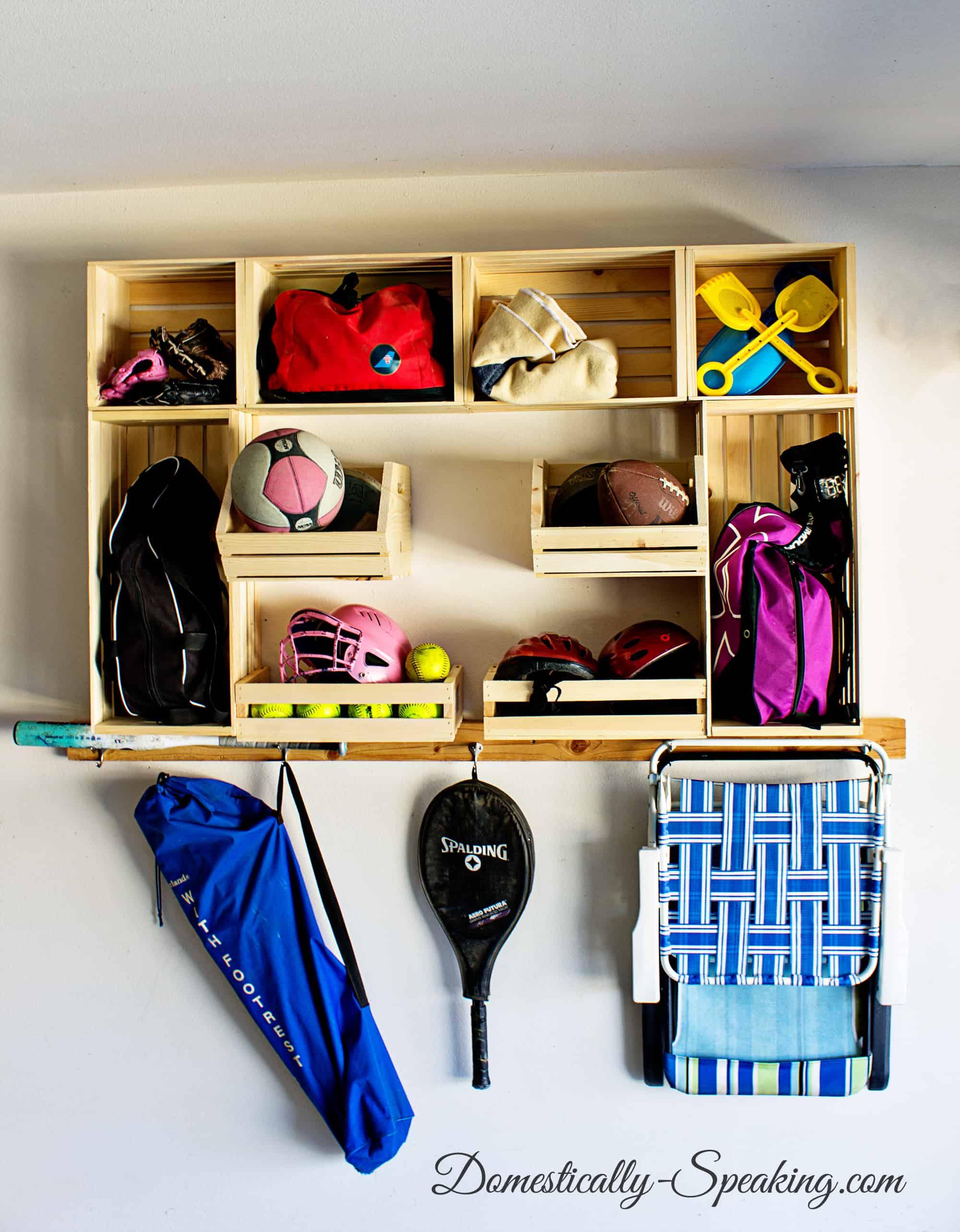 Garage Sports Organization with Crates 2