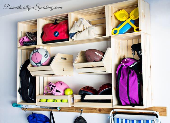 Garage Sports Organization with Crates 5