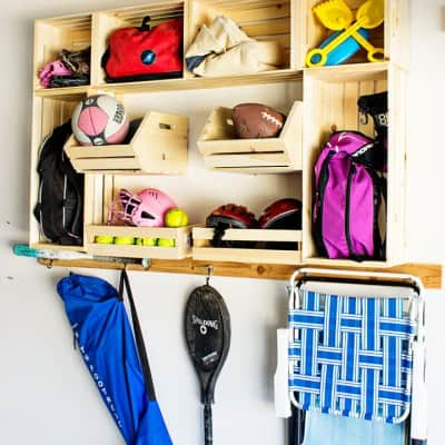Garage Sports Organization with Crates plus a Giveaway!