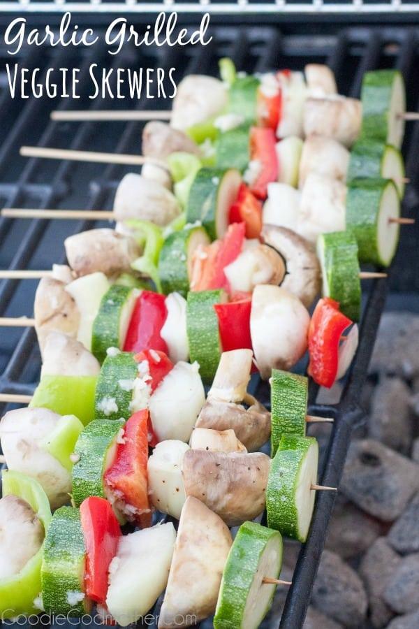 Garlic Grilled Veggie Skewer from Cook Craft Love