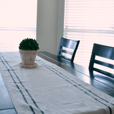 Grain Sack Stripe Table Runner