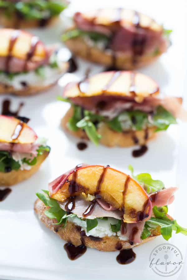 Grilled-Peach-Crostini from Spoonful of Flavor