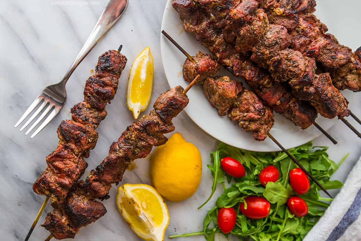 Grilled-souvlaki-this-is-one-of-my-favorite-summer-meals from Sweet Cs Designs