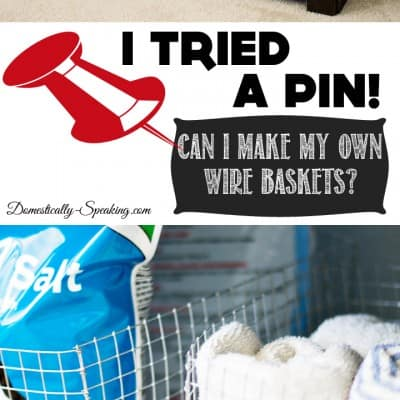 I Tried a Pin | Making Your Own Wire Baskets