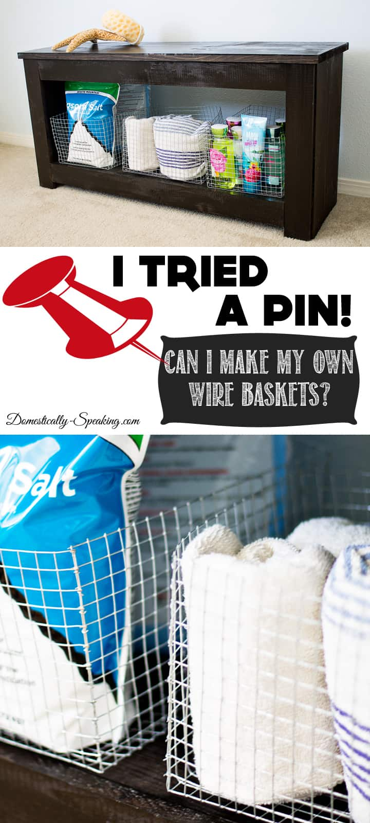 I Tried a Pin Making Your Own Wire Basket