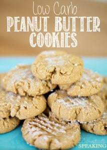 Low Carb Peanut Butter Cookies great with Almond Butter too