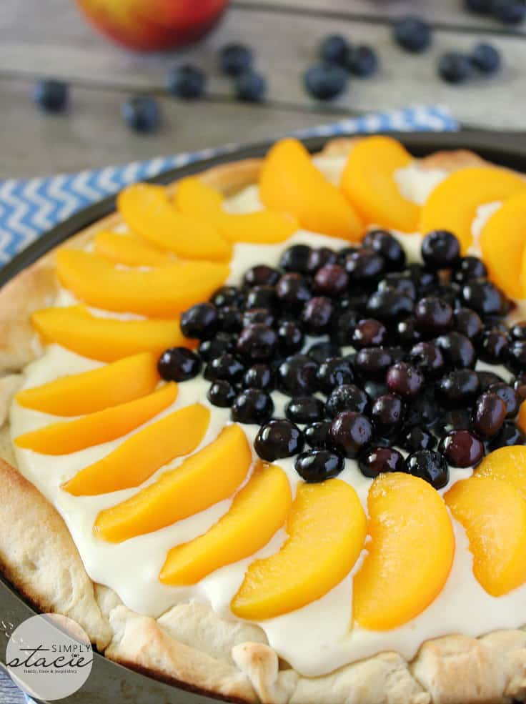 Peach Blueberry Pizza from Simply Stacie