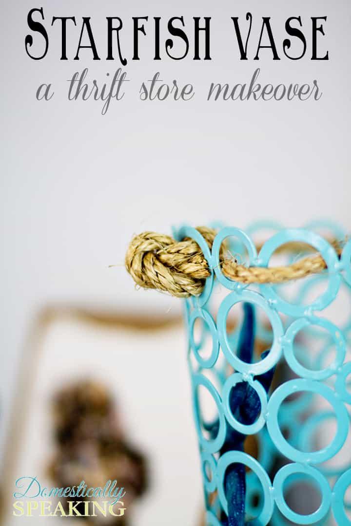 Starfish Vase | Thrift Store Vase Makeover