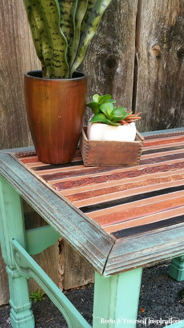 rustic southwestern table from belts from Redo It Yourself Inspirations