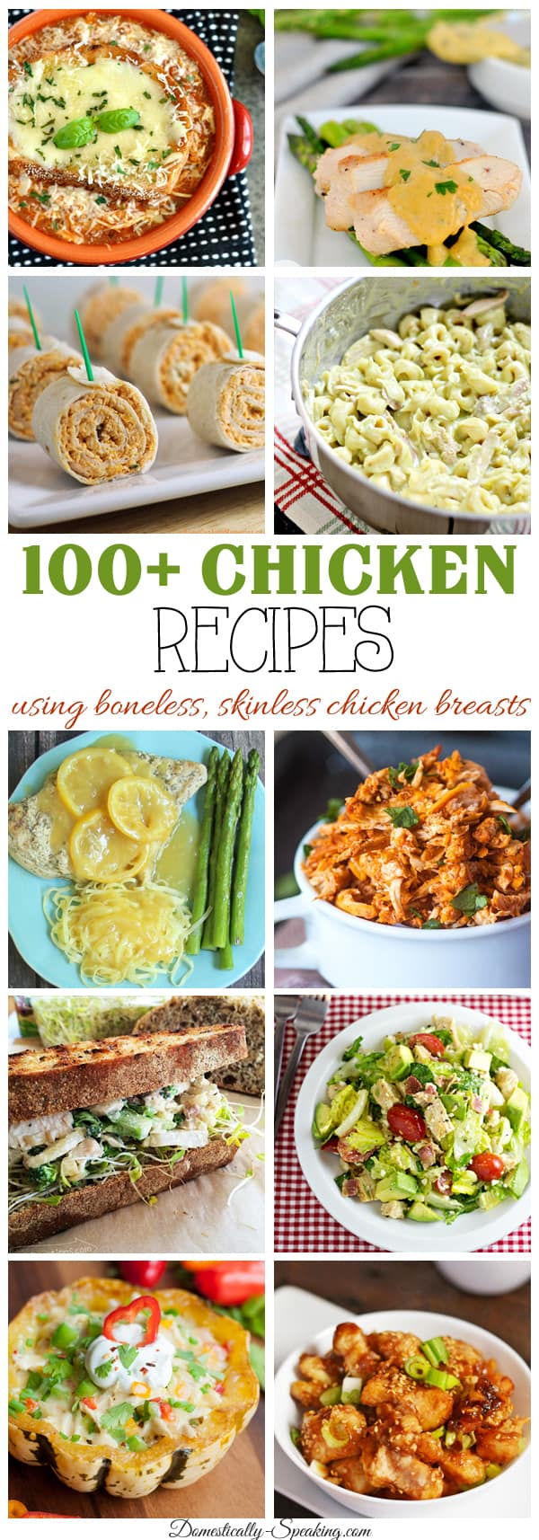 100+ Recipes using Boneless, Skinless Chicken Breasts no more boring dinners