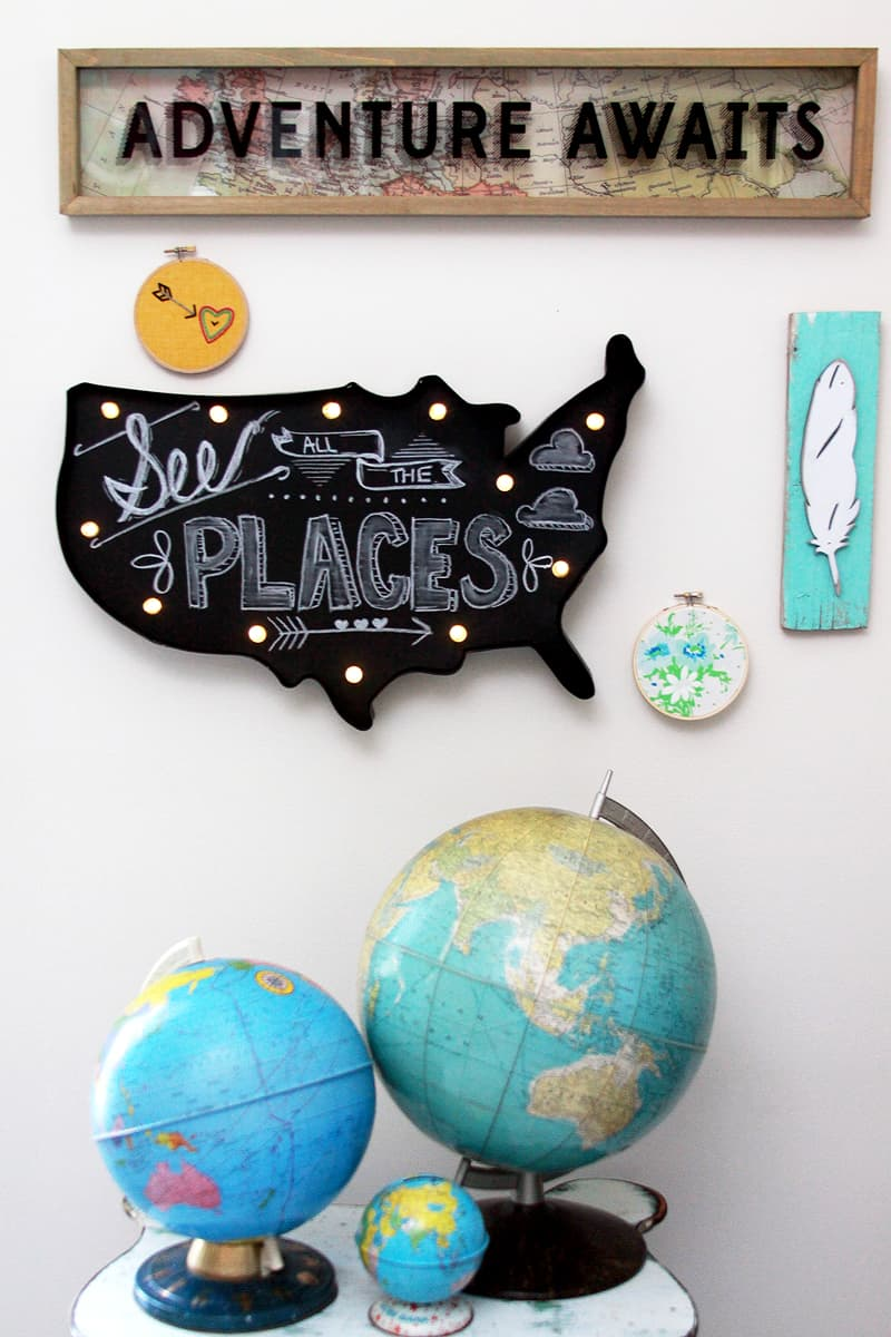 Adventure Awaits Gallery Wall from Flamingo Toes