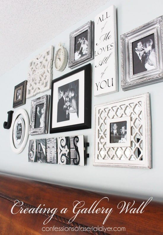 Building-a-gallery-wall-with-things-you-love from Confessions of a Serial Diyer