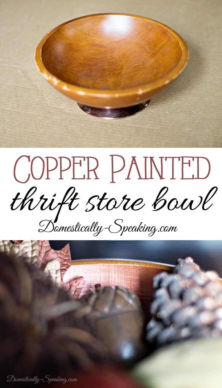 Copper Painted Thrift Store Bowl
