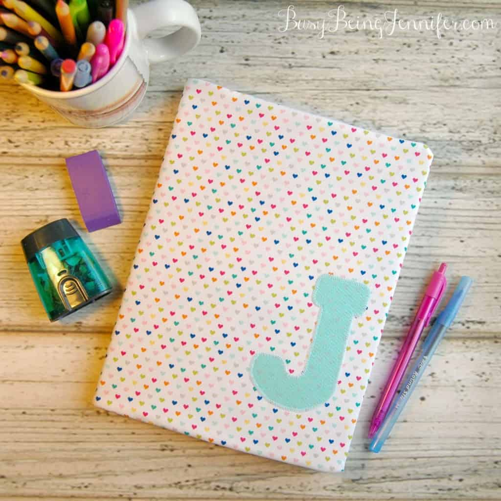 DIY-Fabric-Covered-Note-Book from Busy Being Jennifer