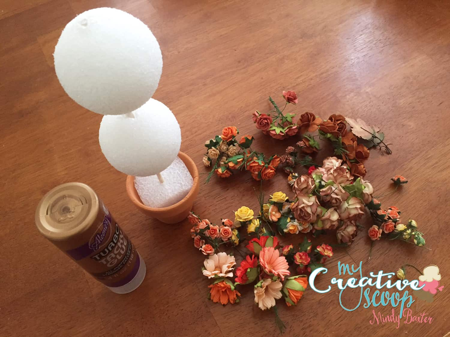 Fall Topiary Tutorial Step (5)
