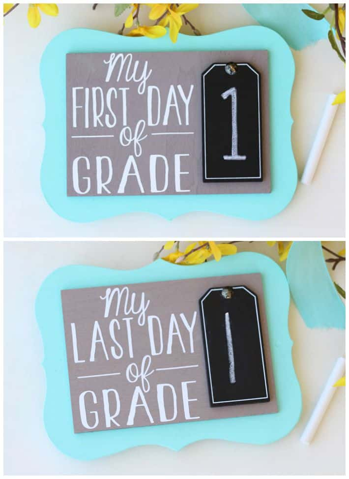 First Day of School Photo Prop from Fynes Designs