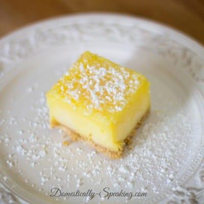 Frozen Lemon Bars Recipe