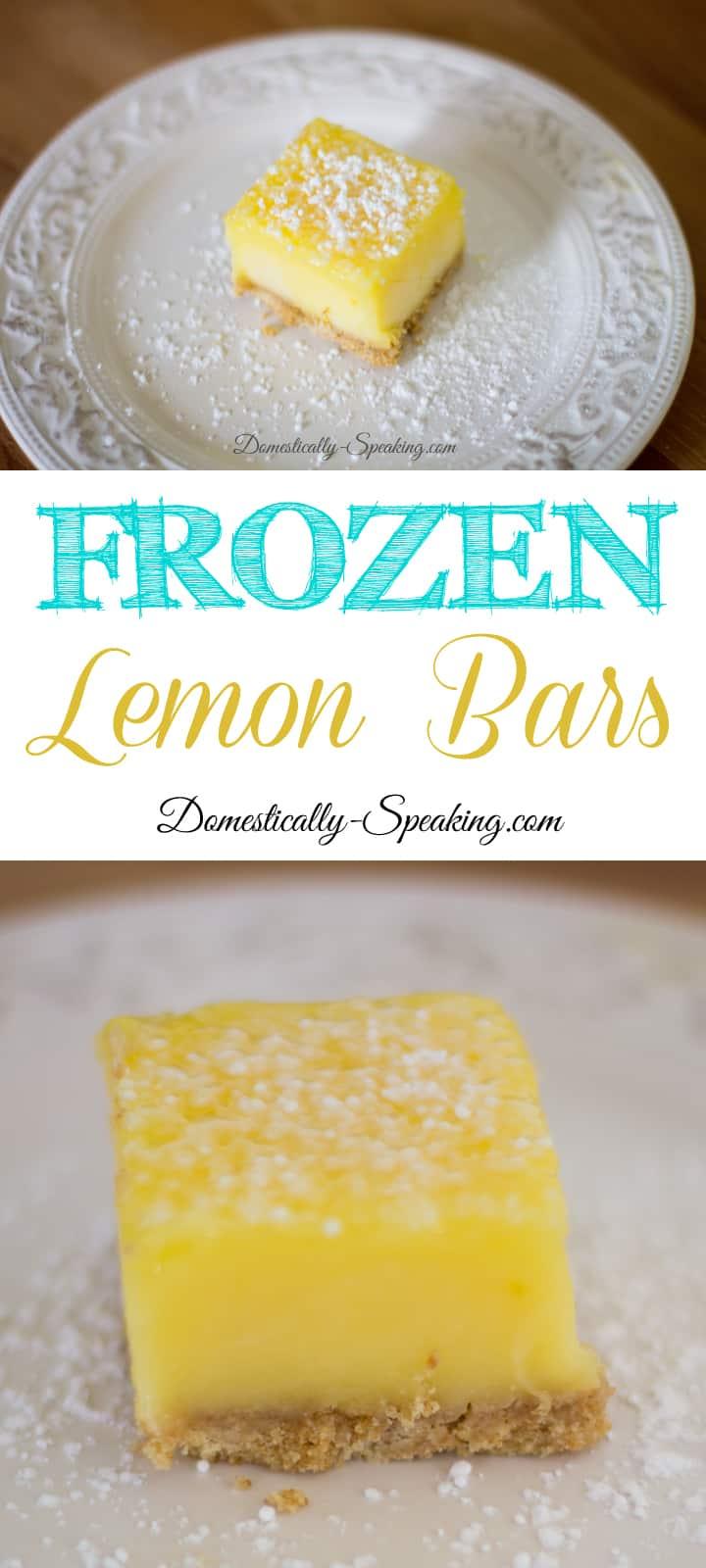 Frozen Lemon Bars Easy No Bake Dessert perfect during the heat of summer!