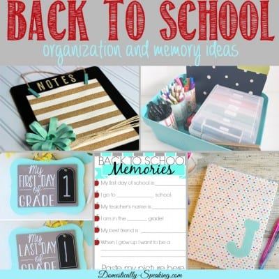 Great Back to School Ideas {Features from Inspire Me Monday}