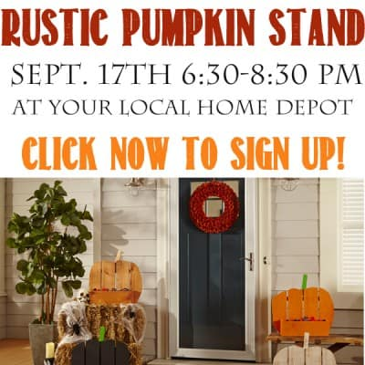 Rustic Pumpkin Stand – Sign up for this Fun, Fall Home Depot DIH Workshop
