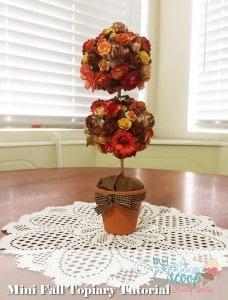 Mini Fall Topiary Tutorial