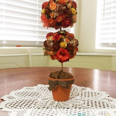 Mini Fall Topiary Tutorial