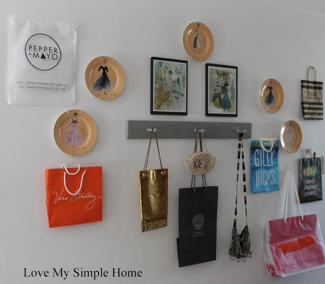 Shopping Bag Inspired Gallery Wall from Love My Simple Home