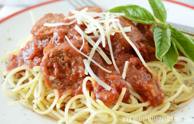 homemade marinara sauce with sausage from Meatloaf and Melodrama