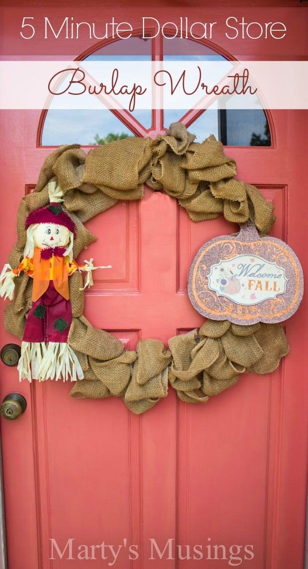 5-Minute-Dollar-Store-and-Burlap-Wreath-Martys-Musings