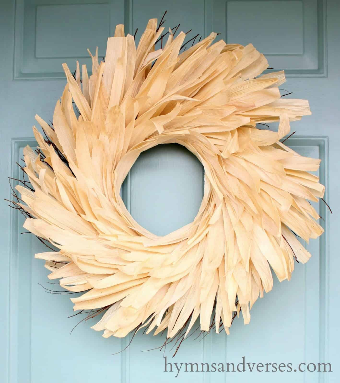 Anthropologie Corn Husk Wreath from Hymns and Verses