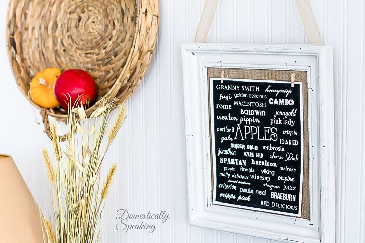 Cute free Printable listing lots Type of Apples - cute for your fall decor.