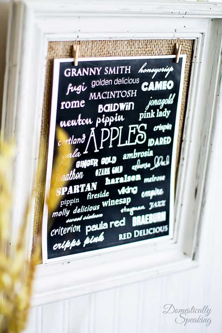 So many types of apples all showcased on this fall printable.