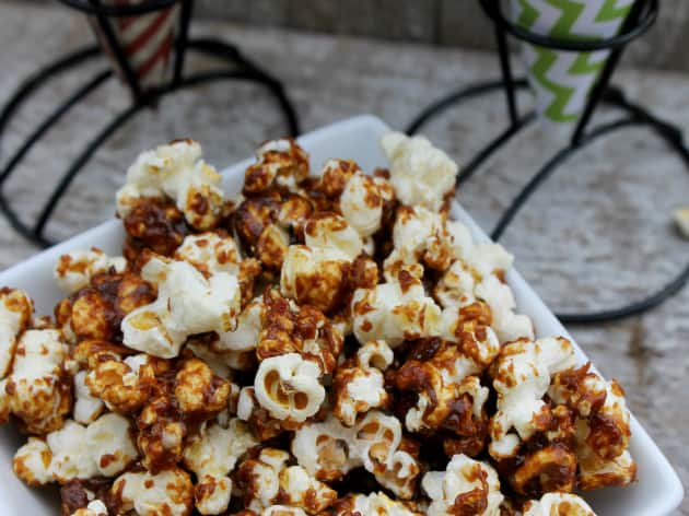 Bacon Caramel Popcorn from Kicking it with Kelly