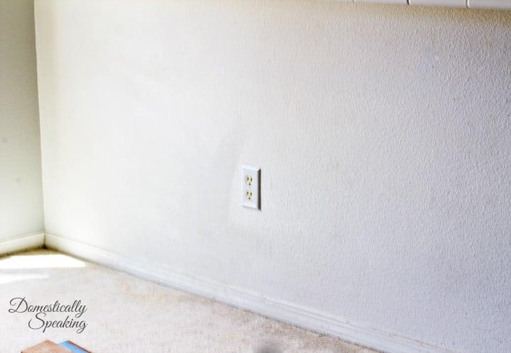Barstool Plank Wall Before