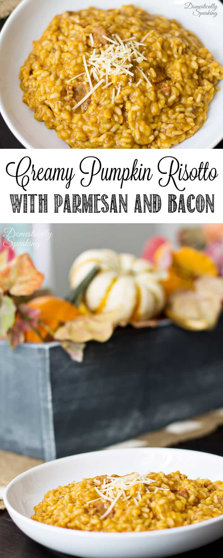Creamy Pumpkin Risotto with Parmesan and Applewood Bacon