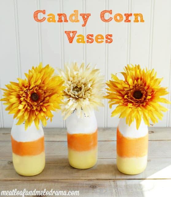 DIY Candy Corn Vases from Meatloaf and Melodrama