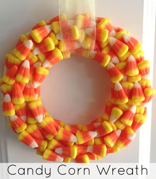DIY-Candy-Corn-Wreath from The Jenny Evolution